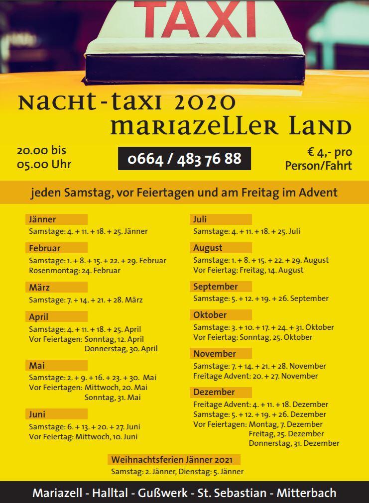 Nachttaxi 2020 Mariazeller Land